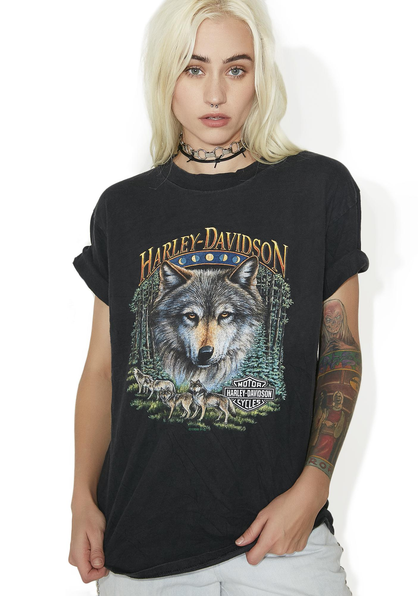 Vintage Harley Davidson Wolf Tee