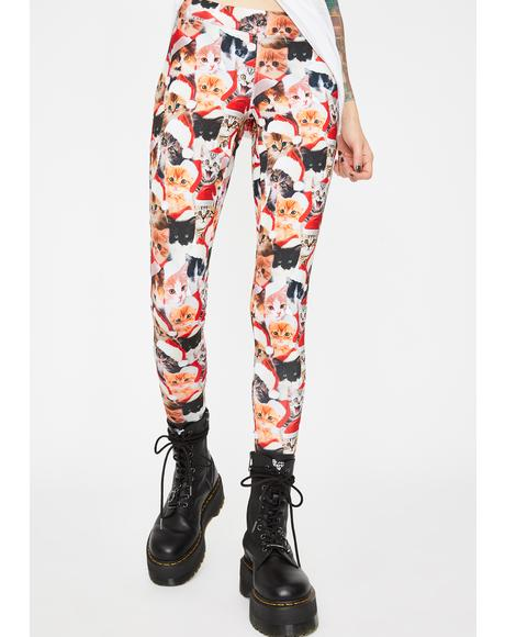 Meowy Christmas Leggings