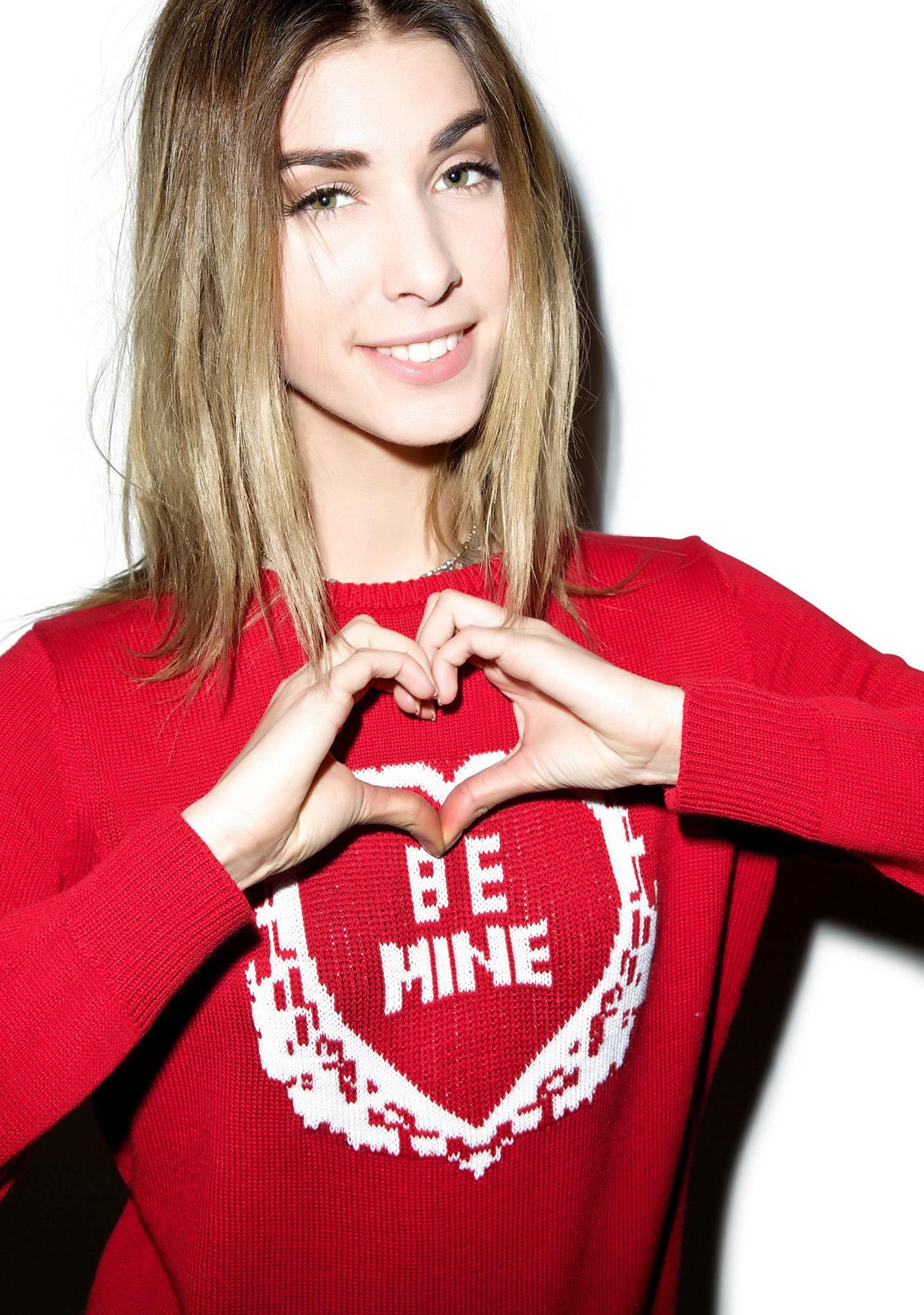 For Love & Lemons Be Mine Sweater
