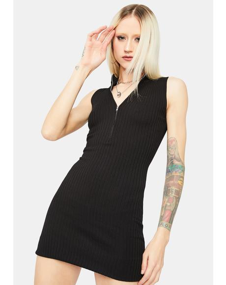 Lady Luck Ribbed Mini Dress