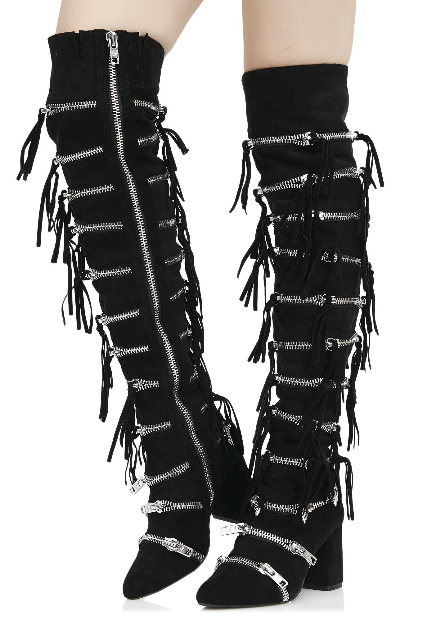 Current Mood Onyx Zip Boots