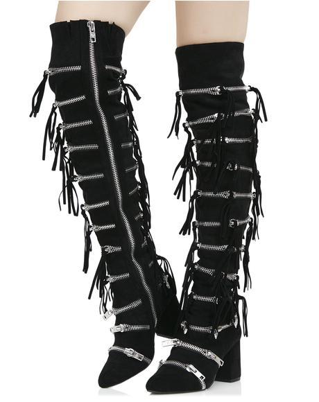 Onyx Zip Boots