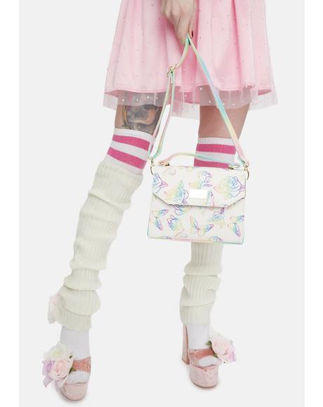 Butterfly Rose Crossbody Bag