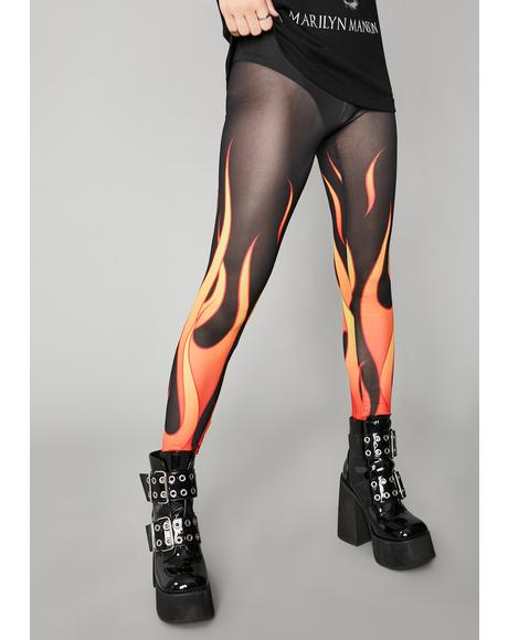 Hell And Back Mesh Leggings