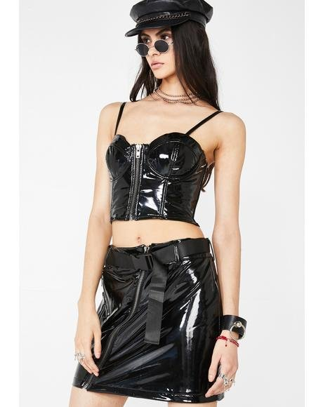 The Dazed PVC Skirt