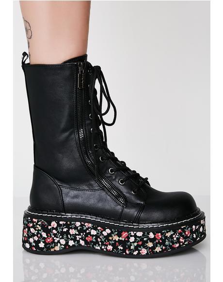 I'ma Cool Gal Combat Boots