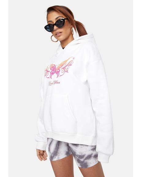 Butterfly Tattoo Graphic Hoodie