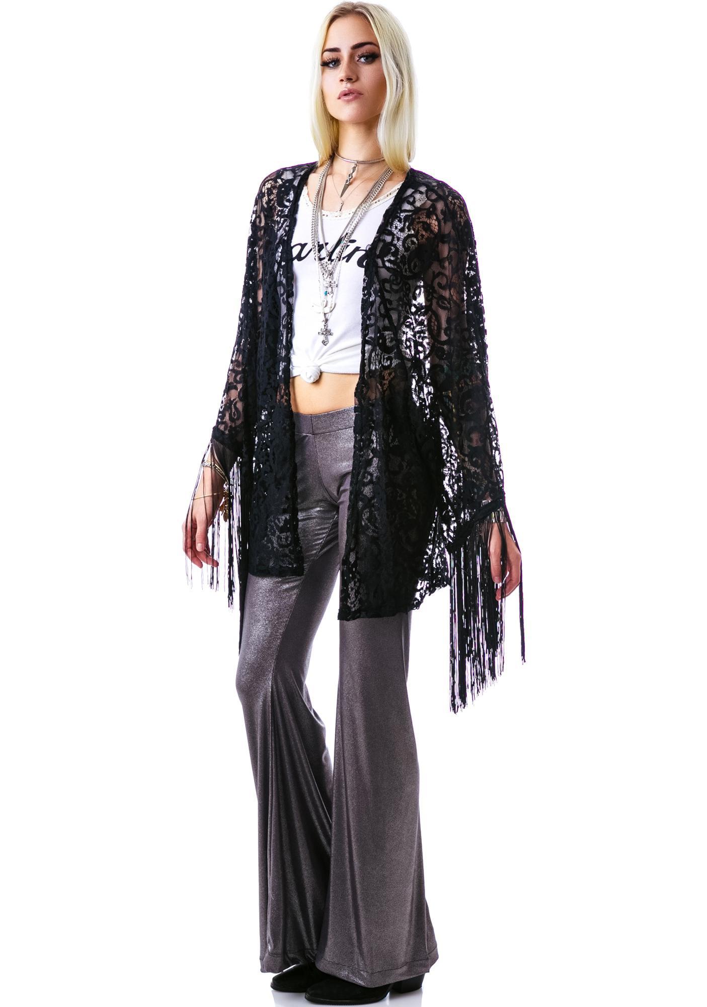 Livin' On The Fringe Kimono