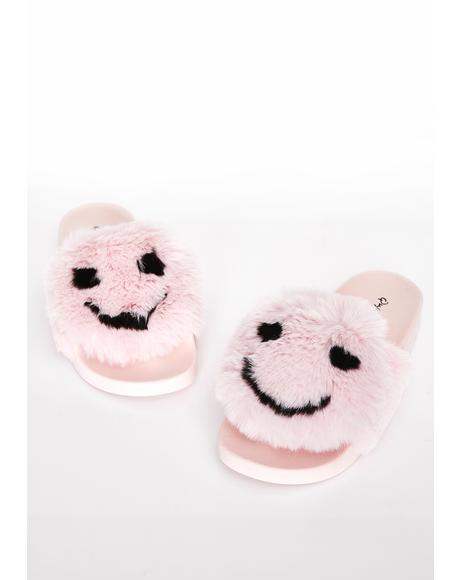 Tickled Pink Fuzzy Slides