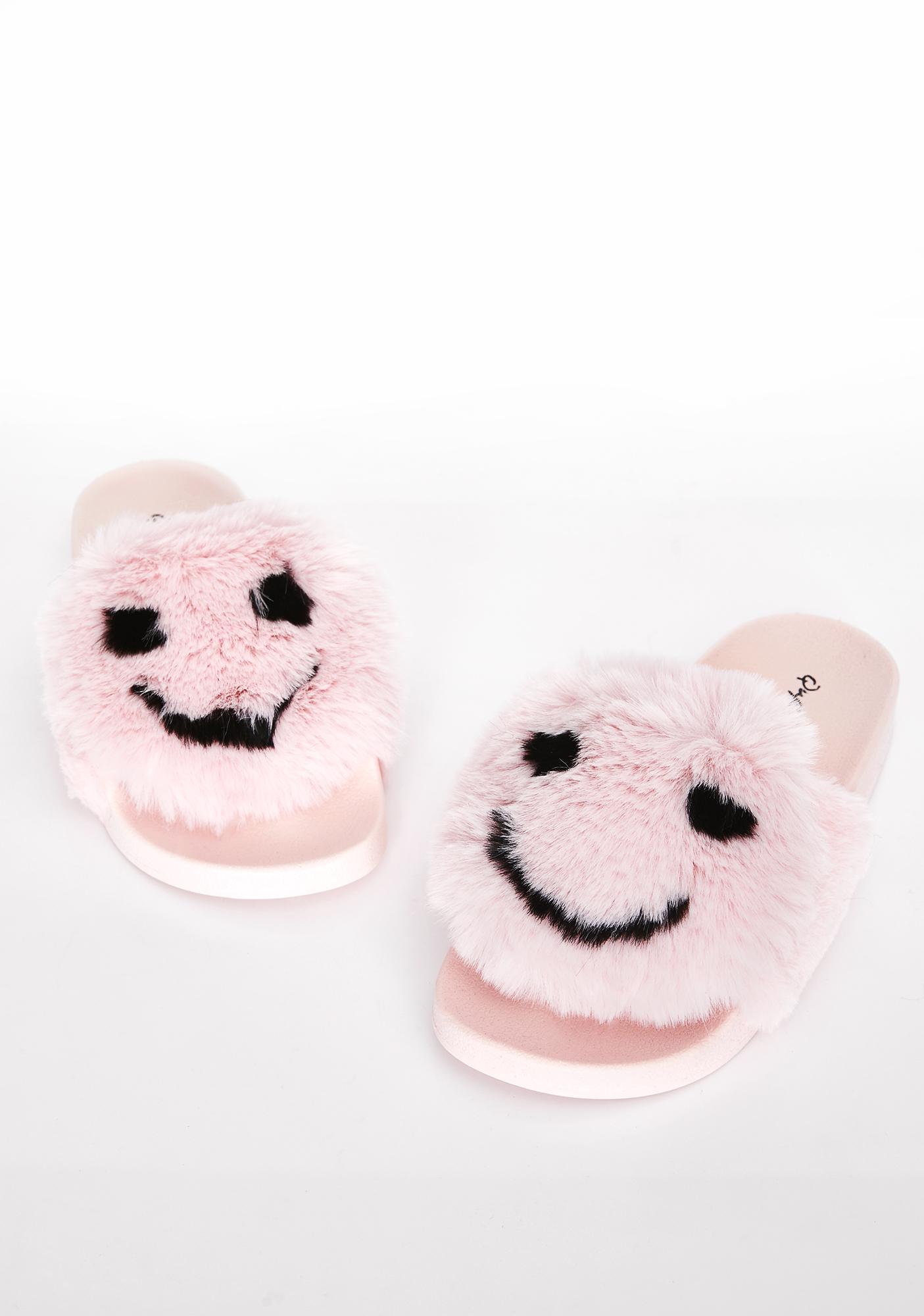 Tickled Pink Fuzzy Slides