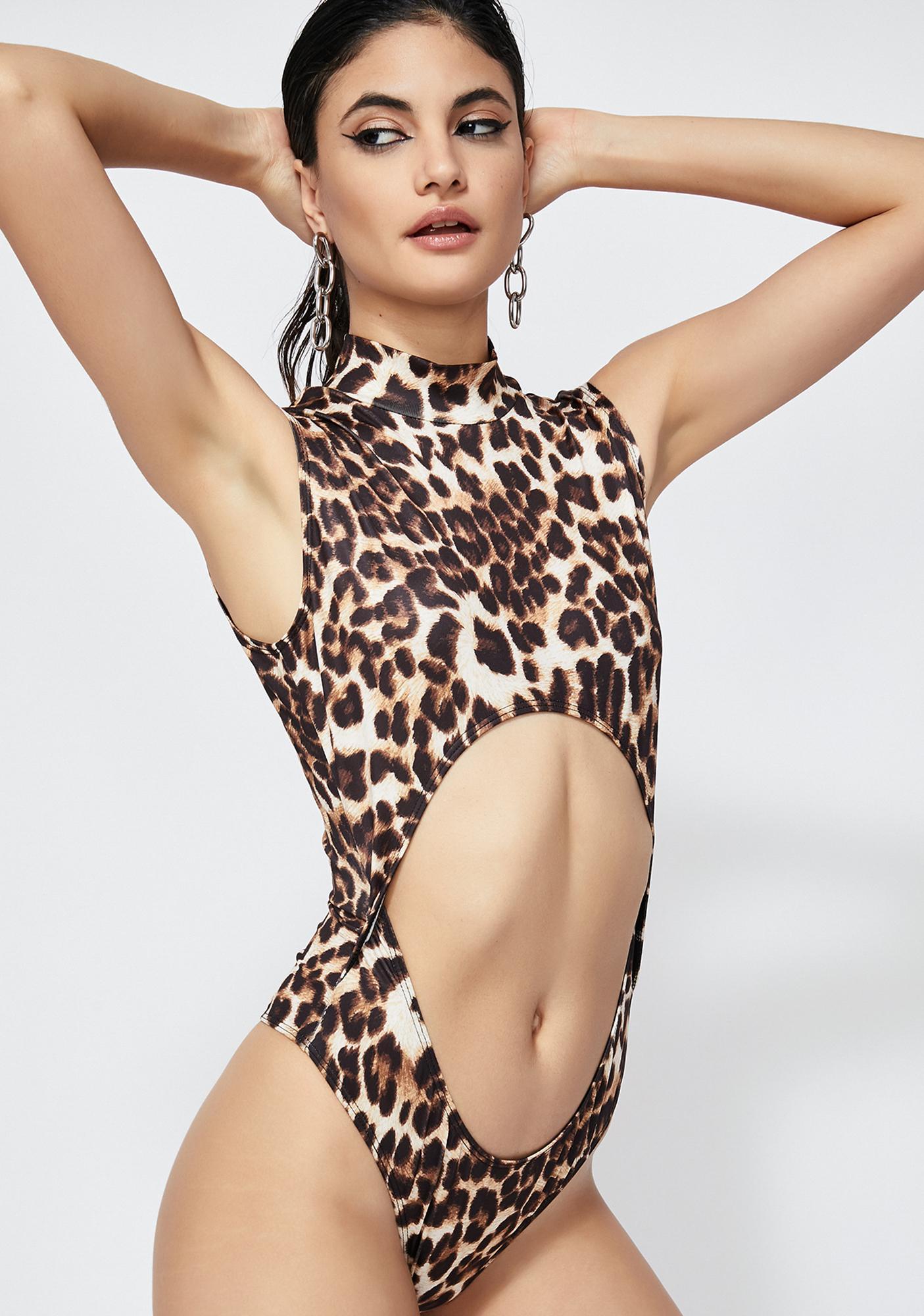 Feline Ferocious Leopard Bodysuit