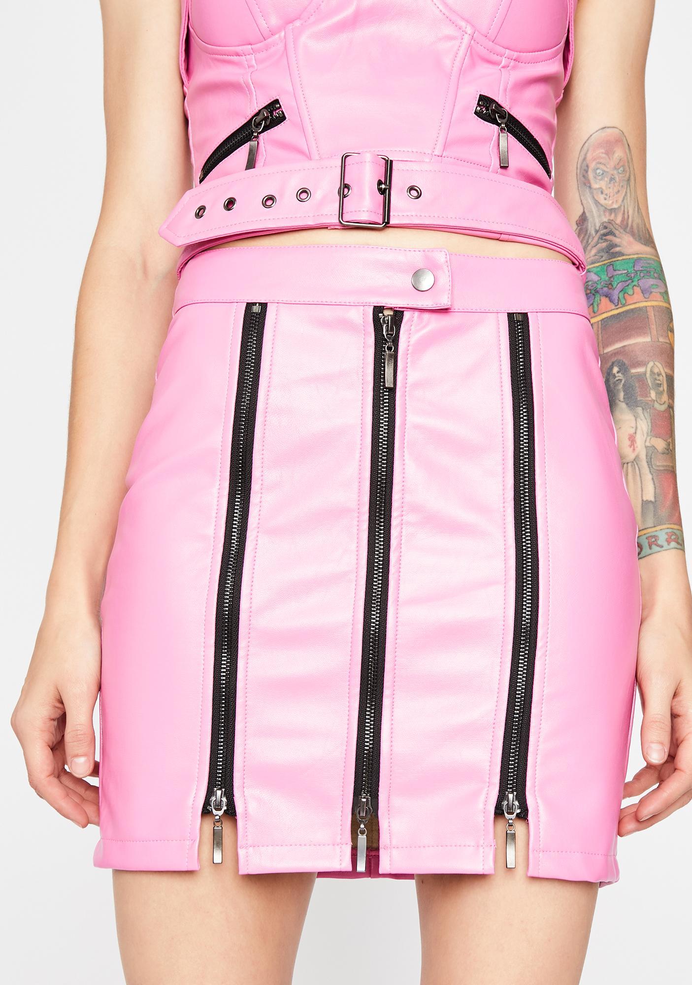 Edge Of Glory Moto Skirt