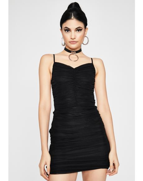Pullin' Moves Ruched Dress