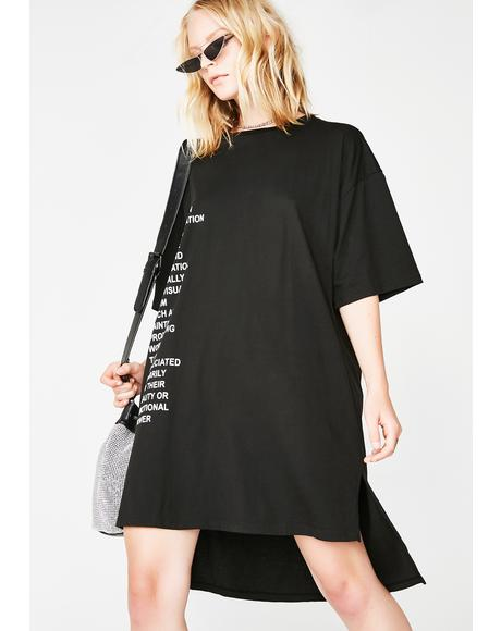 Step Hem Tee Dress