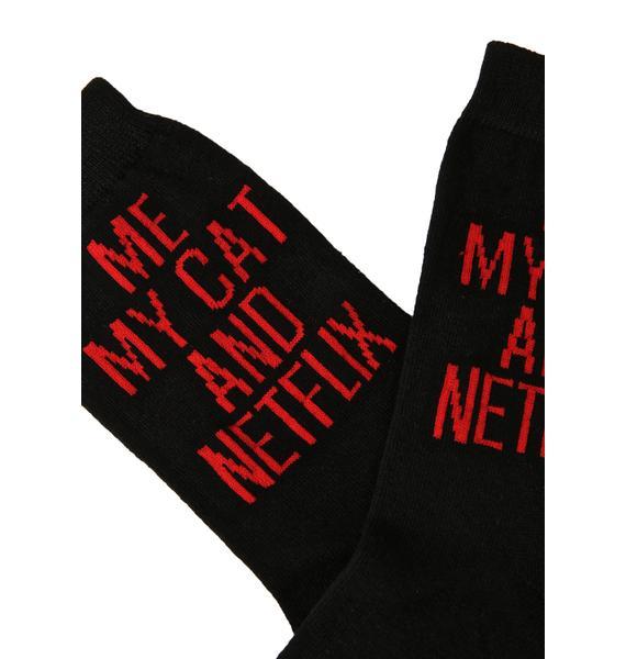 Killstar My Cat Ankle Socks
