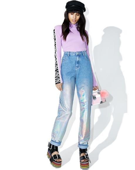 Starcrush Holographic Jeans