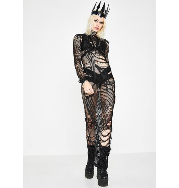 Kiki Riki The Dark Web Sheer Dress