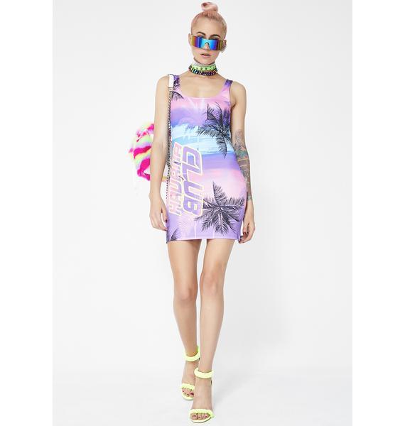 Jaded London Havana Club Square Neck Mini Dress