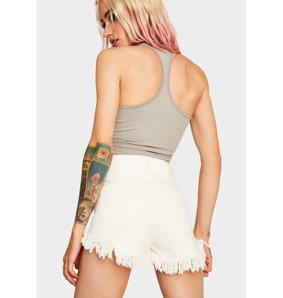 Mink Pink Faraway Lace Up Shorts