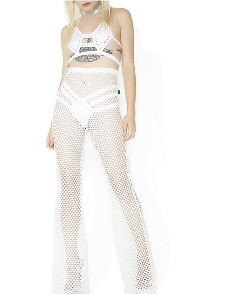 Mary Q Mesh Flare Pants