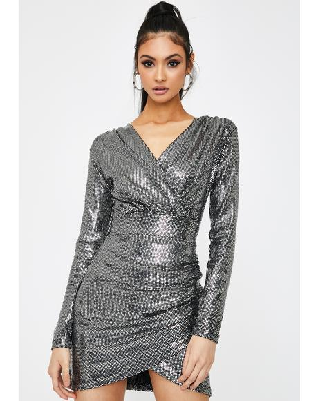 Liquid Mercury Sequin Dress