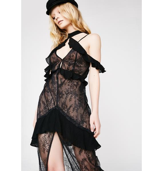 For Love & Lemons Margot Off-Shoulder Midi Dress