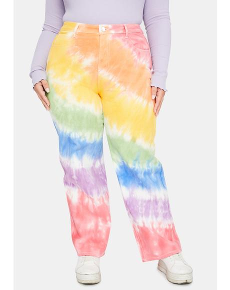 Her Jolly Happy Soul Tie Dye Jeans