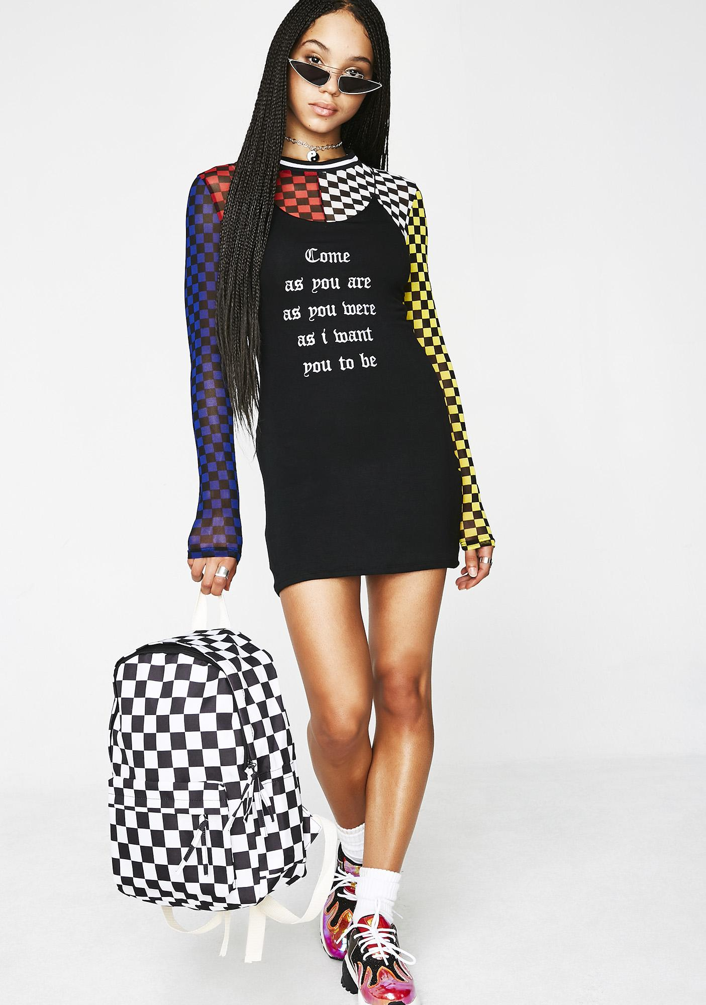 O Mighty Come As You Are Mini Dress