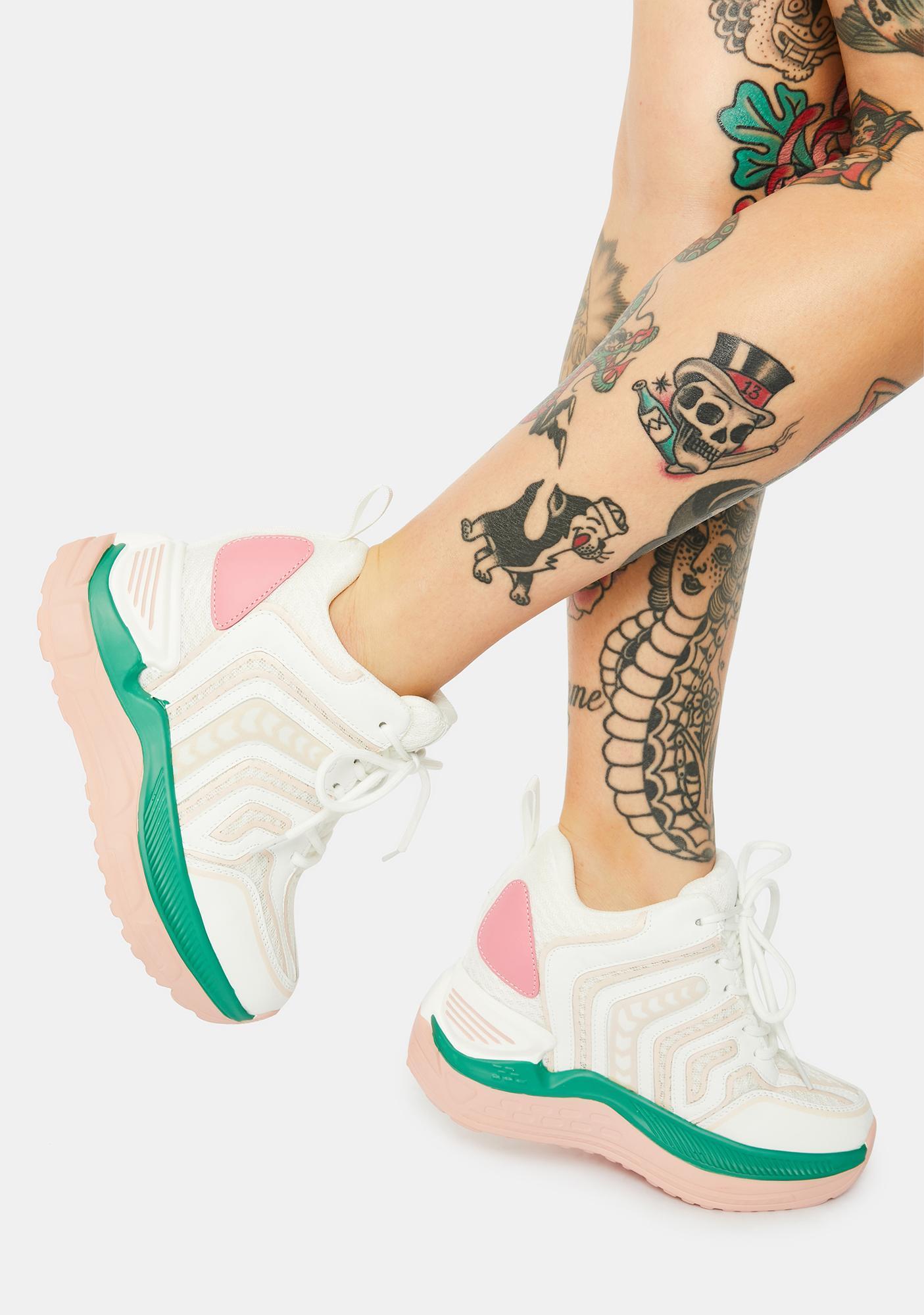 Anthony Wang Raisin Chunky Wedge Sneakers