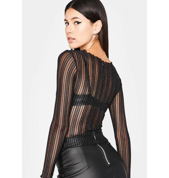 Have It All Mesh Top