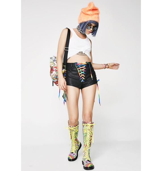 Current Mood Chromatic Visionz Lace-Up Shorts