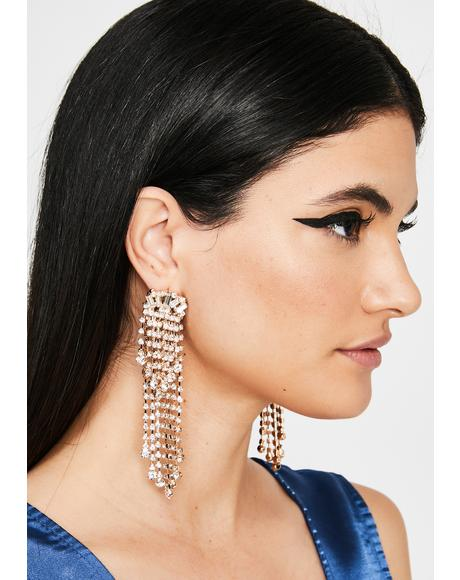 Classy Chic Rhinestone Earrings