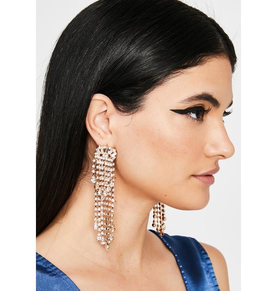 Classy Chic Rhinestone Earrings