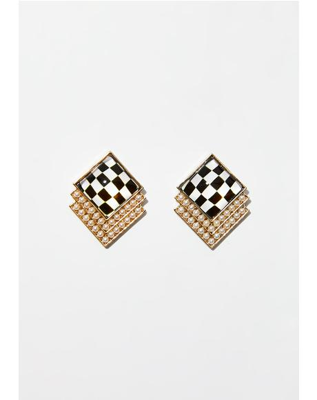 Fast N' Fancy Square Earrings