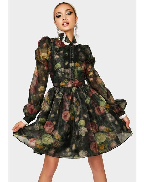English Rose Kiki Long Sleeve Dress
