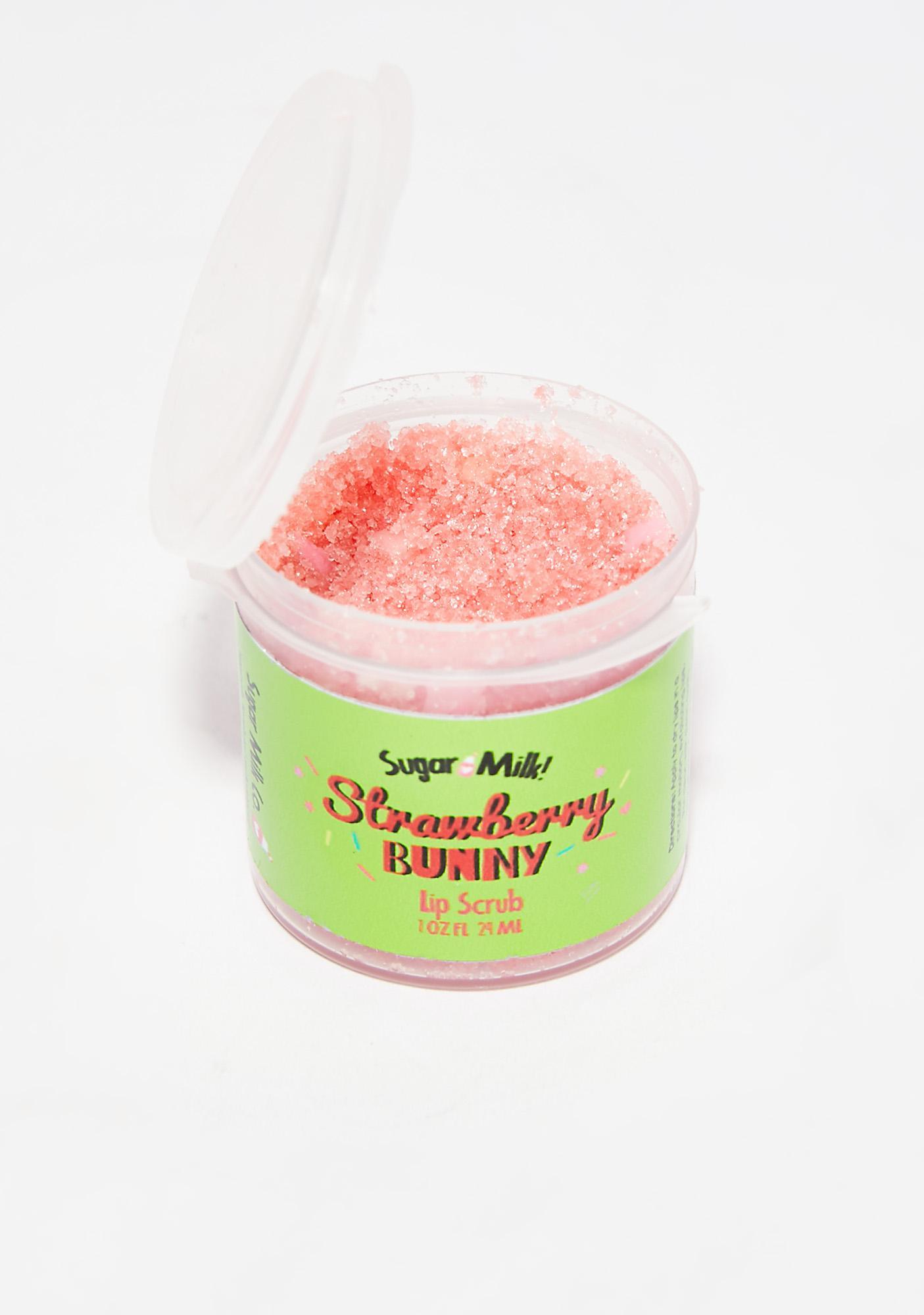 Sugar Milk Co Strawberry Bunny Lip Scrub