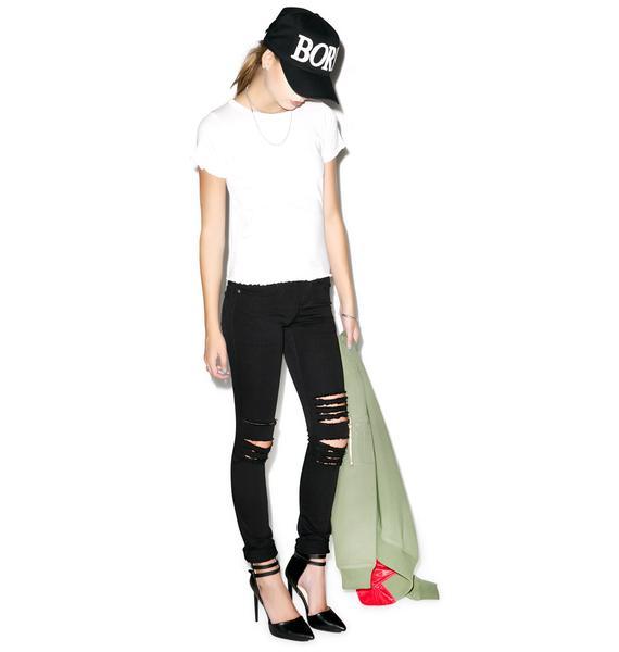 Tripp NYC Rough N' Rowdy Knee Slit Jeans