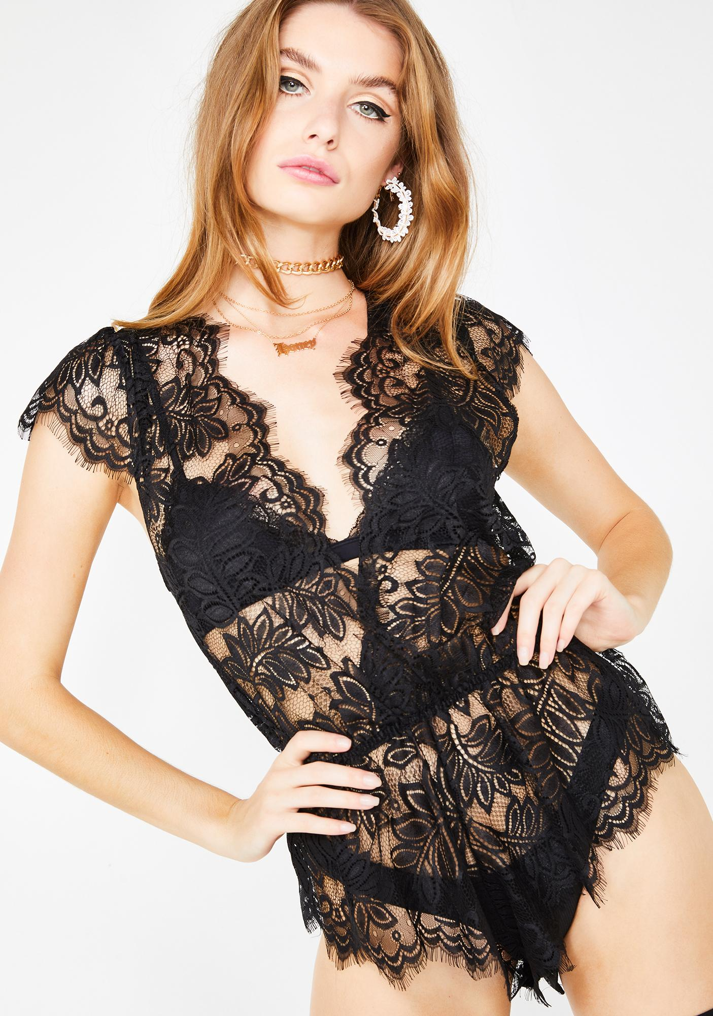 9cf77bdac65 Sheer Temptation Lace Romper
