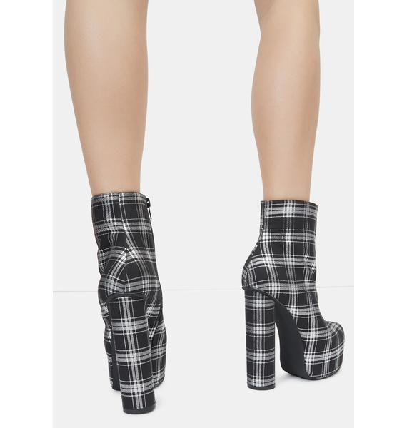 Lemon Drop by Privileged Black Questar Ankle Boots