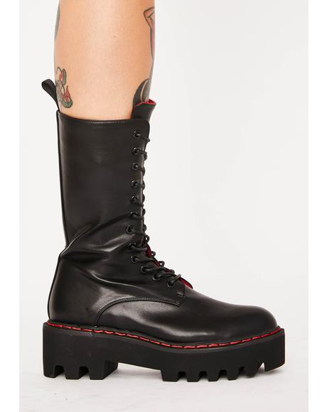 Unforgiven High Platform Boots