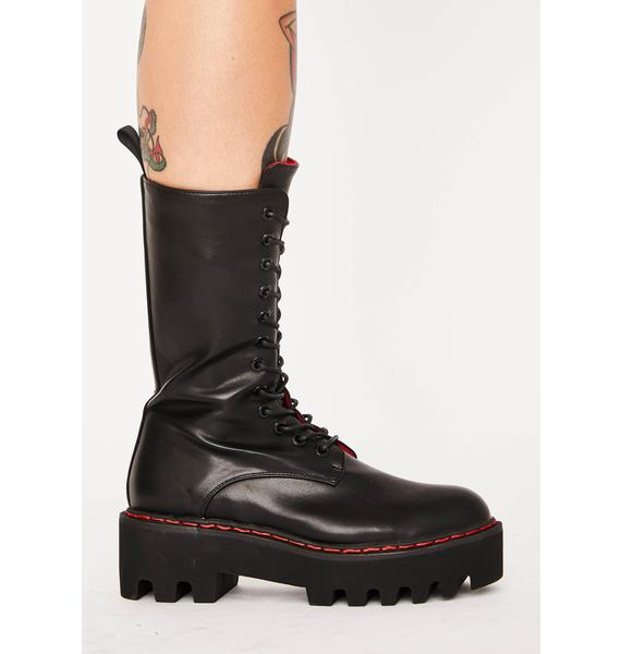 Lamoda Unforgiven High Platform Boots
