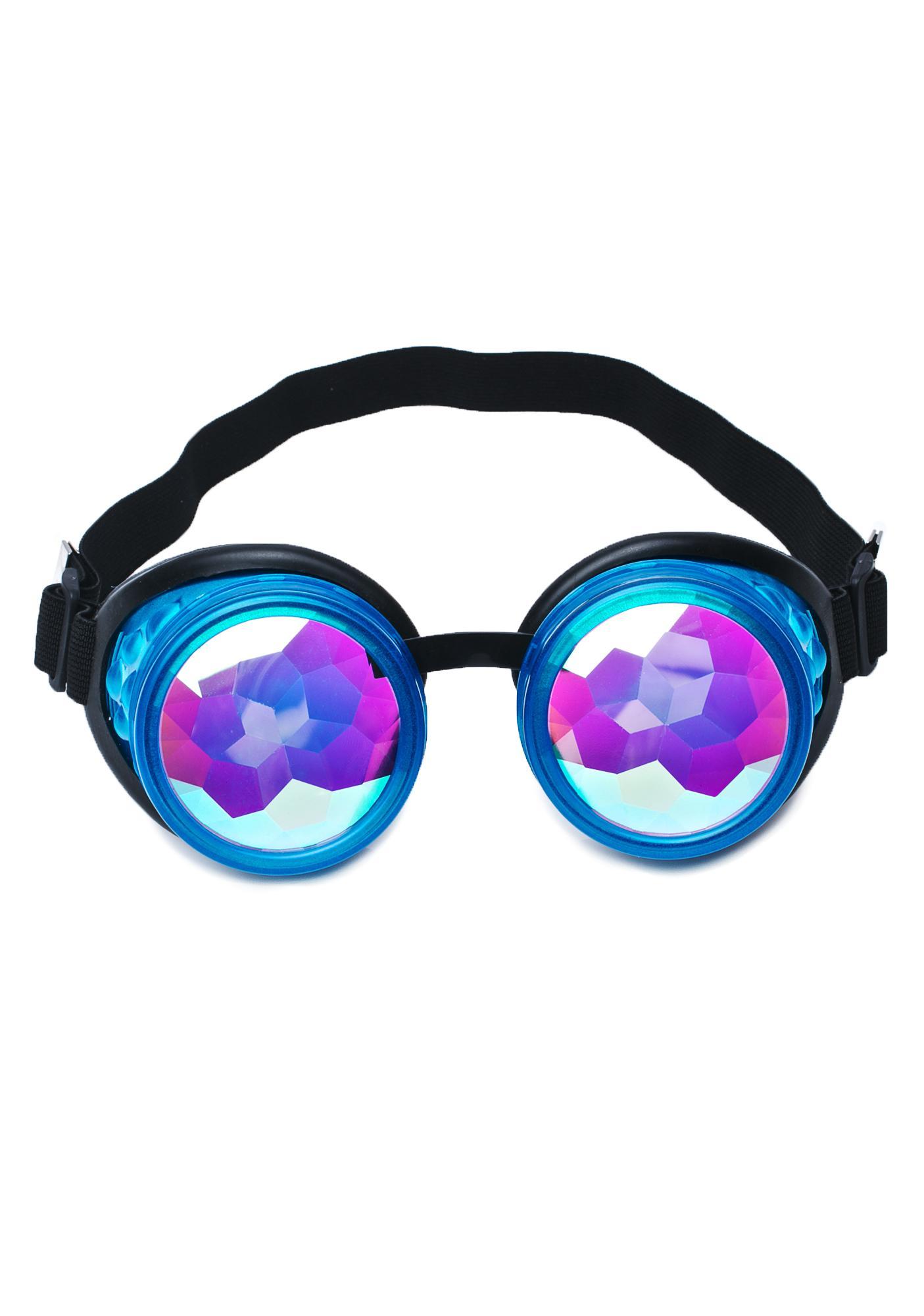 GloFx Glow Blue Kaleidoscope Goggles