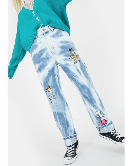 X Flintstones Bedrock Jeans