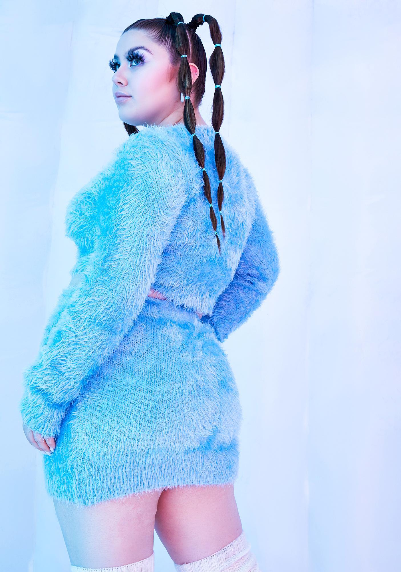 Club Exx I'll Freeze U Out Fuzzy Knit Sweater