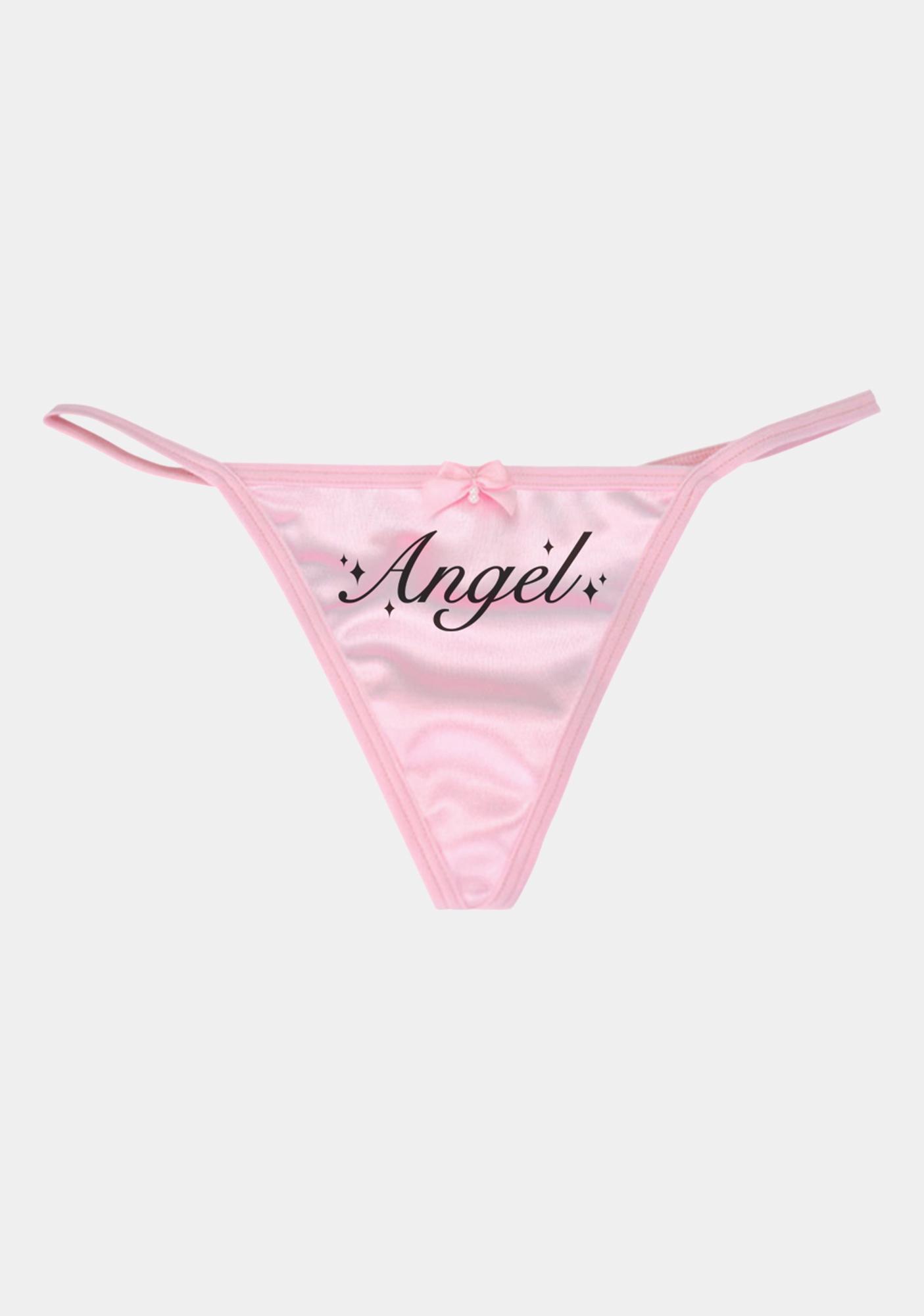 MaryJaneNite Pink Angel Reflective G String Panty