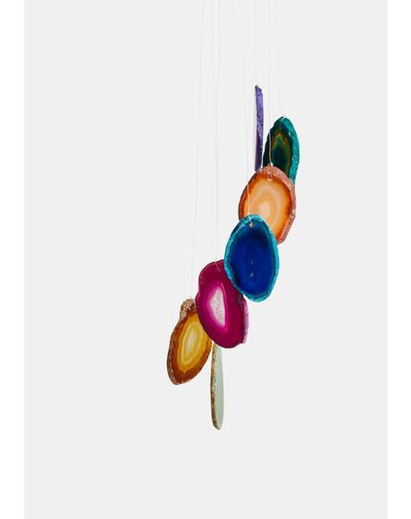 Rainbow Agate Crystal Wind Chimes