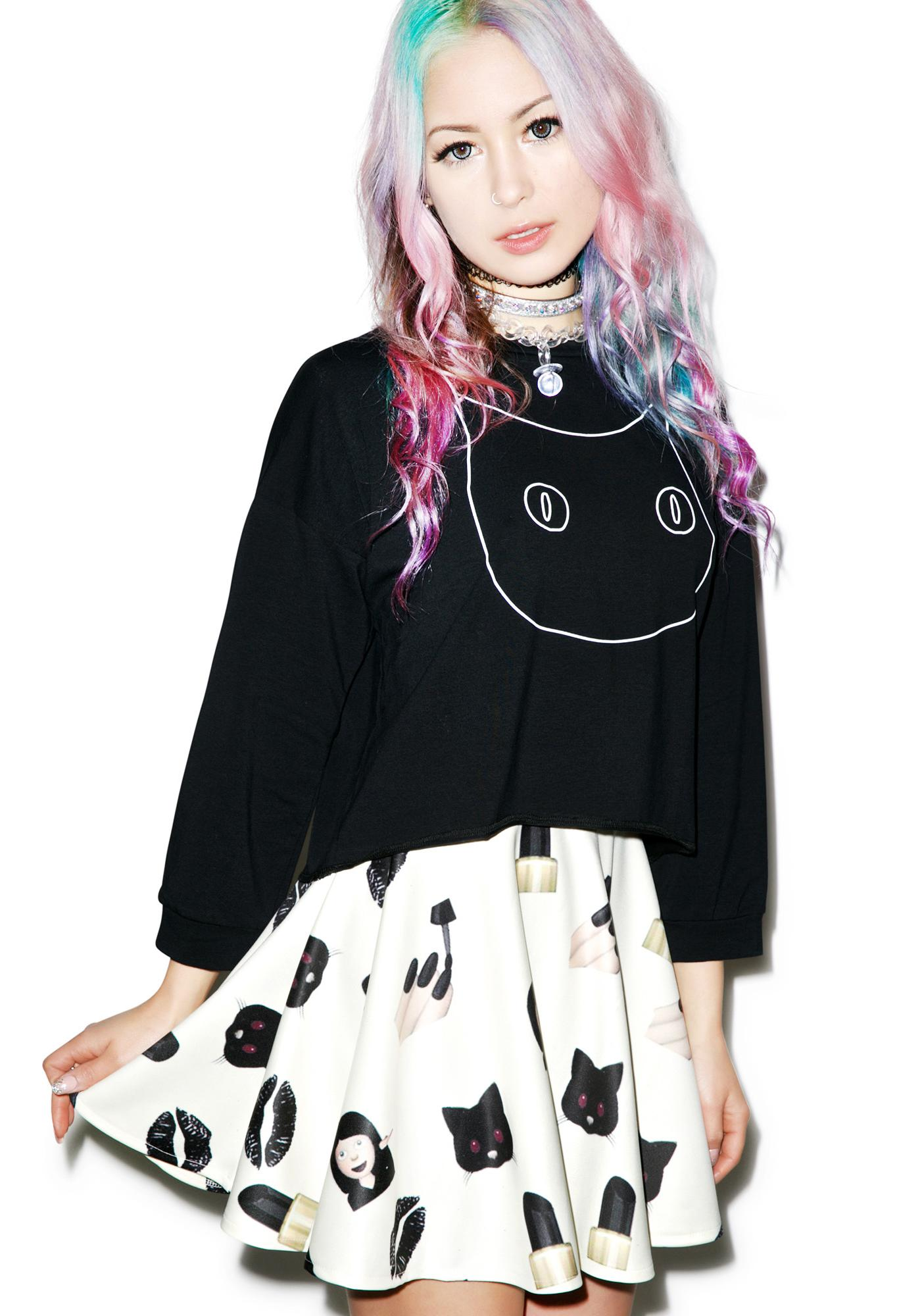 O Mighty Badass Bish Skater Skirt