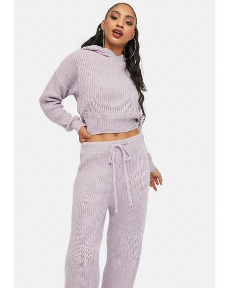 Lilac Take Me Home Knit Lounge Set