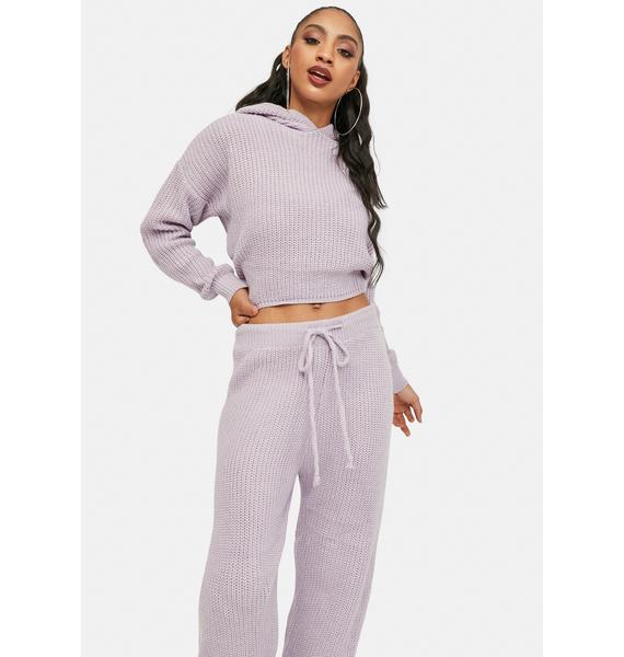 Lilac Take Me Home Knit Lounge Set