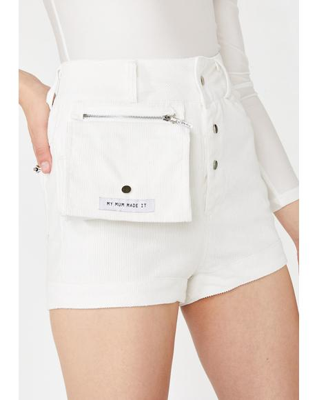 Corduroy Cosmetics Case Shorts